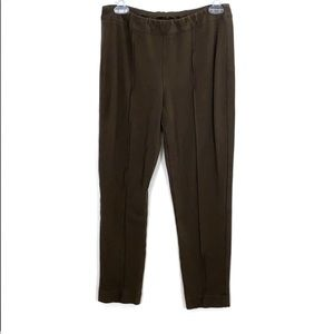 Soft Surroundings Brown Pleated Stretch Pants PS